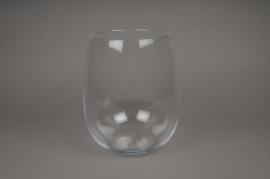 A071I0 Vase en verre arrondi D18cm H26cm
