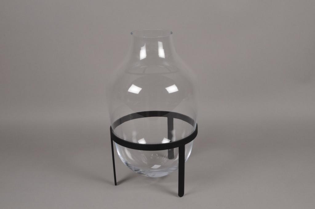 A203IH Vase en verre avec support D30cm H48cm