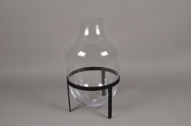 A203IH Glass vase with holder D30cm H48cm