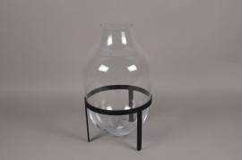 A203IH Glass vase with holder D30cm H48cm