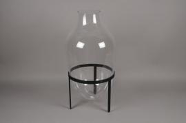 A204IH Glass vase with holder D39cm H80cm