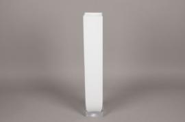 A122I0 Vase en verre blanc 10cm x 10cm H60cm