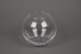 A004L2 Vase en verre boule D10cm H7cm