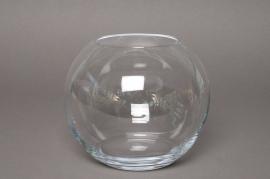 A057PQ Vase en verre boule D14cm H13cm