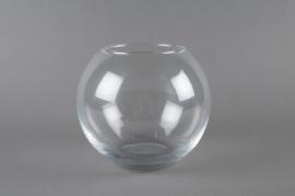 Vase glass sphere D20 H17cm