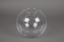 A057I0 Vase en verre boule D20cm H17cm