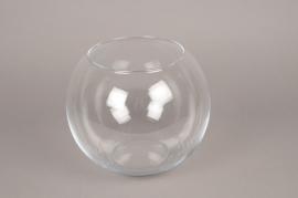 A101I0 Vase en verre boule D25cm H21cm