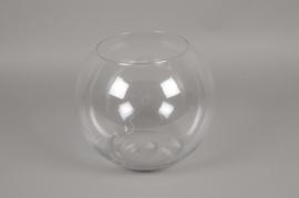 A092PQ Vase glass sphere D30 H25cm