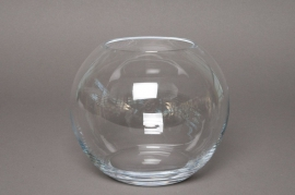 Vase glass sphere D35 H30cm