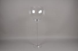 A103PQ Glass bowl stemmed vase D35cm H96cm