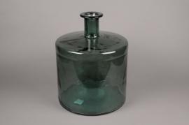 C123DQ Vase en verre bouteille vert D35cm H45cm