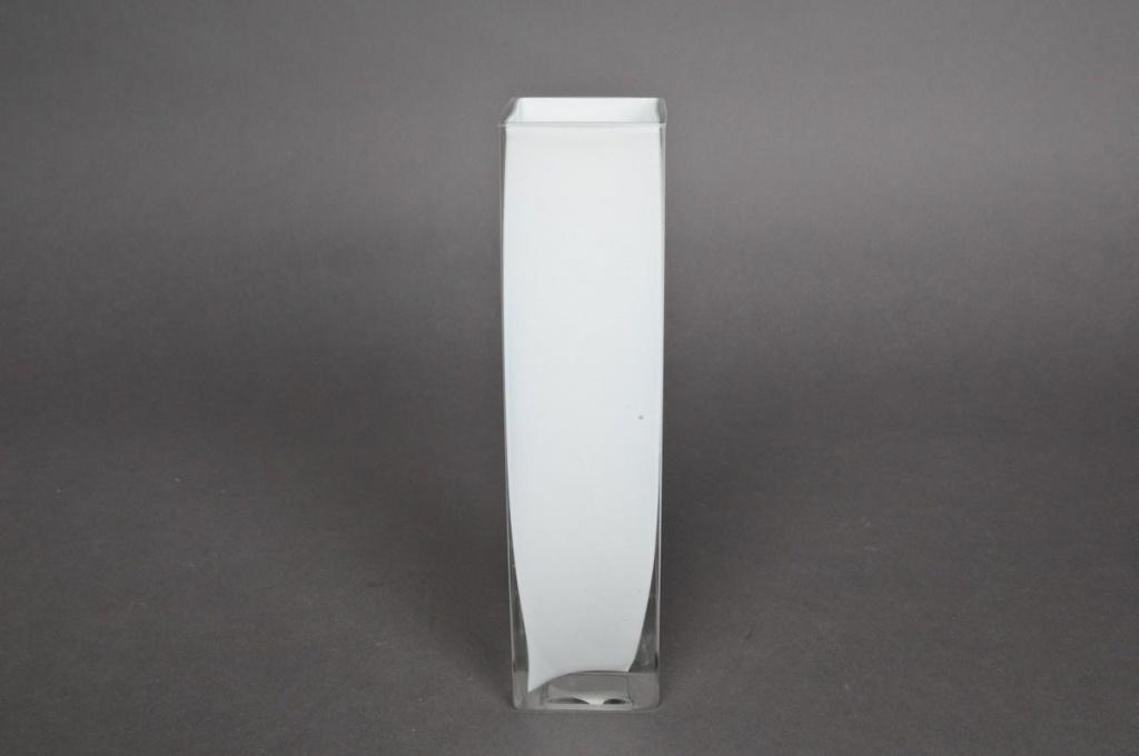 Vase en verre carré haut 5x5x20cm