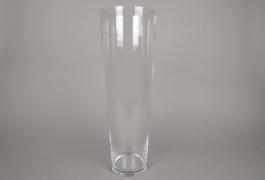 A093I0 Vase en verre conique D16.5cm H50cm