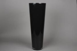 A020I0 Vase en verre conique noir D22cm H70cm