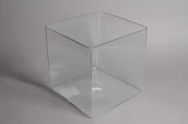 A264IH Vase en verre cube 30x30cm H30cm