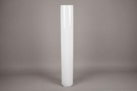 A133I0 Vase en verre cylindre blanc D15cm H100cm