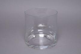 Vase en verre cylindre D20 H20cm