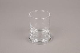 B437W3 Vase en verre cylindre D7cm H8.5cm
