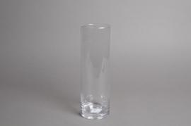 A016I0 Vase en verre cylindre D8.5cm H26cm