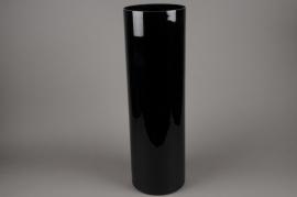 A125I0 Vase glass cylinder black D20cm H65cm