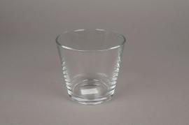 A096I0 Vase en verre D12cm H11cm
