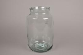 C116DQ Vase en verre D18cm H30cm