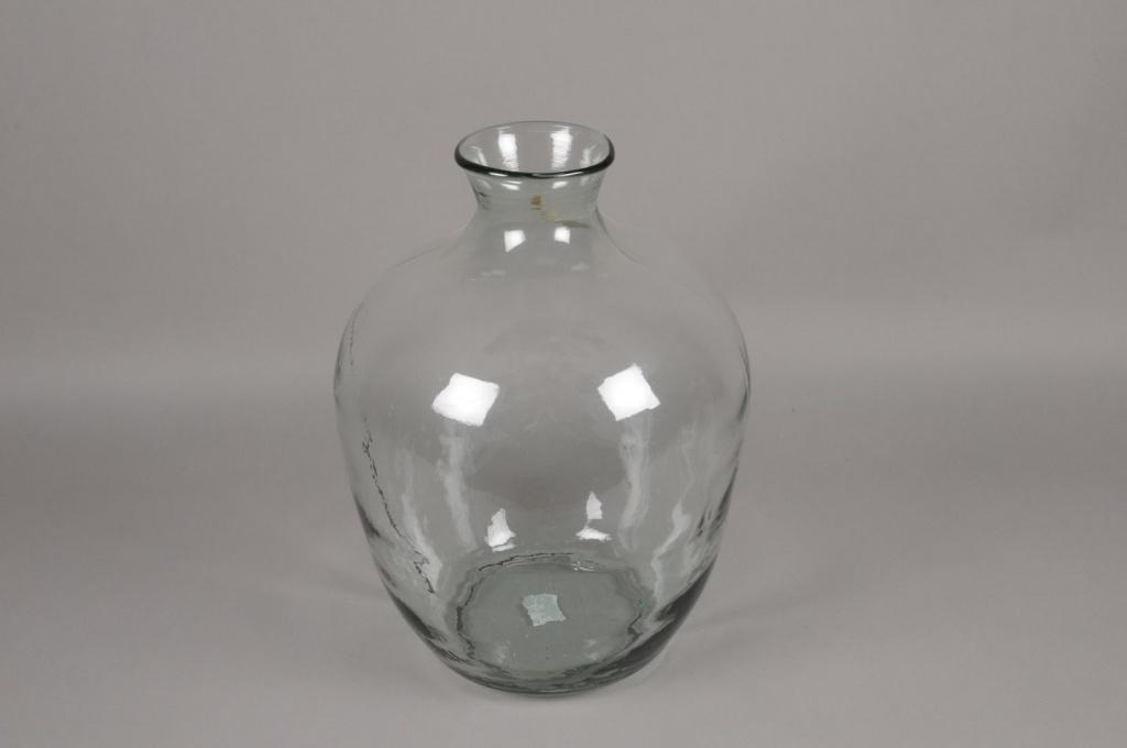 A029R4 Vase en verre D33cm H48cm