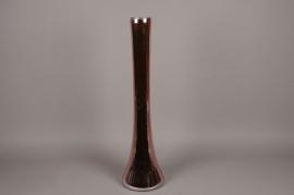 A088K9 Vase en verre église rose D20cm H80cm