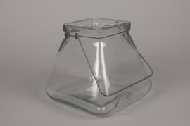 A010R4 Vase en verre évasé 23cm x 23cm H23cm