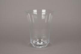 B004IH Vase en verre évasé D16cm H20cm