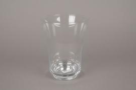 B005IH Vase en verre évasé D20cm H25cm