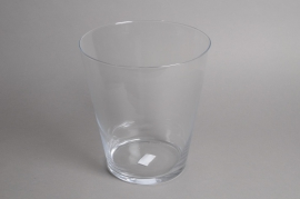 A085I0 Vase en verre évasé D27cm H30cm