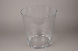 B442W3 Vase en verre évasé D35cm H38cm