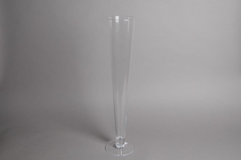 A022PQ Vase en verre flûte D10.5cm H60cm