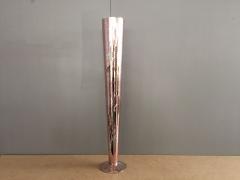 A062K9 Vase en verre flûte or rose D11.5cm H80cm