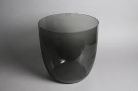 B374W3 Vase en verre fumé noir D38cm H39cm