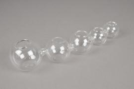 A013U5 Vase en verre L26cm H5cm