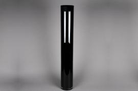 A134I0 Vase en verre noir D15cm H100cm