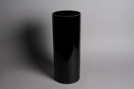A641IZ Vase en verre noir D20cm H50cm