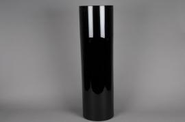 A126I0 Vase en verre noir D20cm H80cm