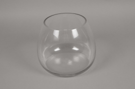 A073K9 Vase en verre obus D24cm H20cm