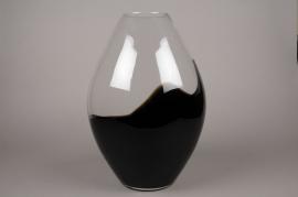 B417W3 Vase en verre obus D27cm H45cm