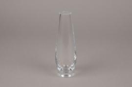 B492W3 Vase en verre obus D5.5cm H17.5cm