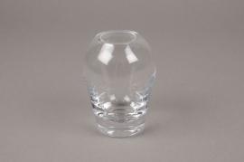 B491W3 Vase en verre obus D7cm H9cm