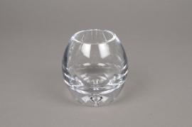 B416W3 Vase en verre obus D9cm H10cm