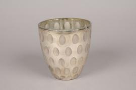 A006C9 Vase en verre or D14cm H15cm