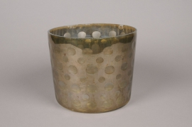 A011C9 Vase en verre or D23cm H19cm