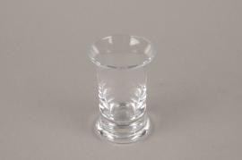 Vase en verre soliflore avec col D5.5 H9cm