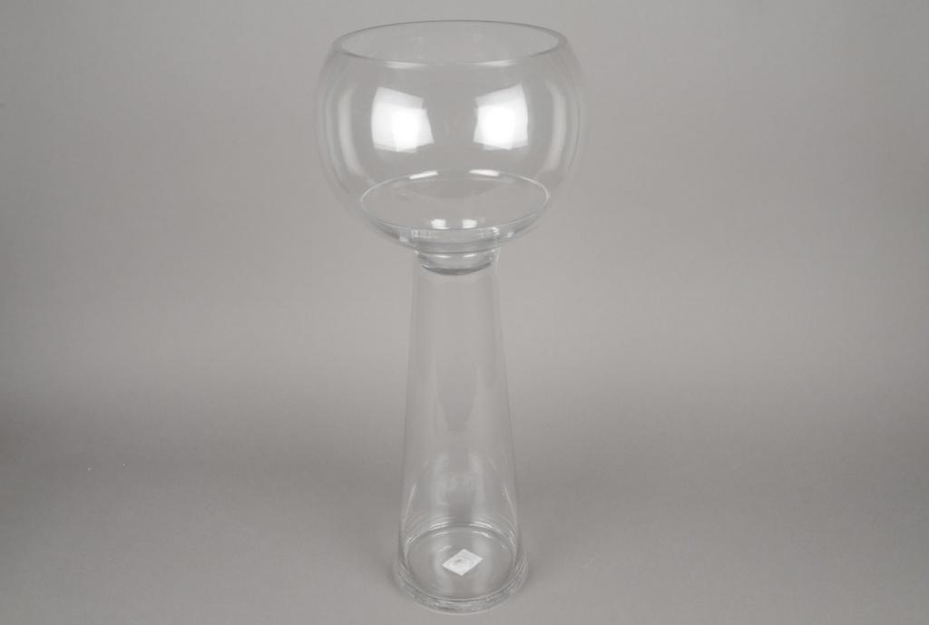 A068K9 Vase en verre sur pied D25cm H59cm