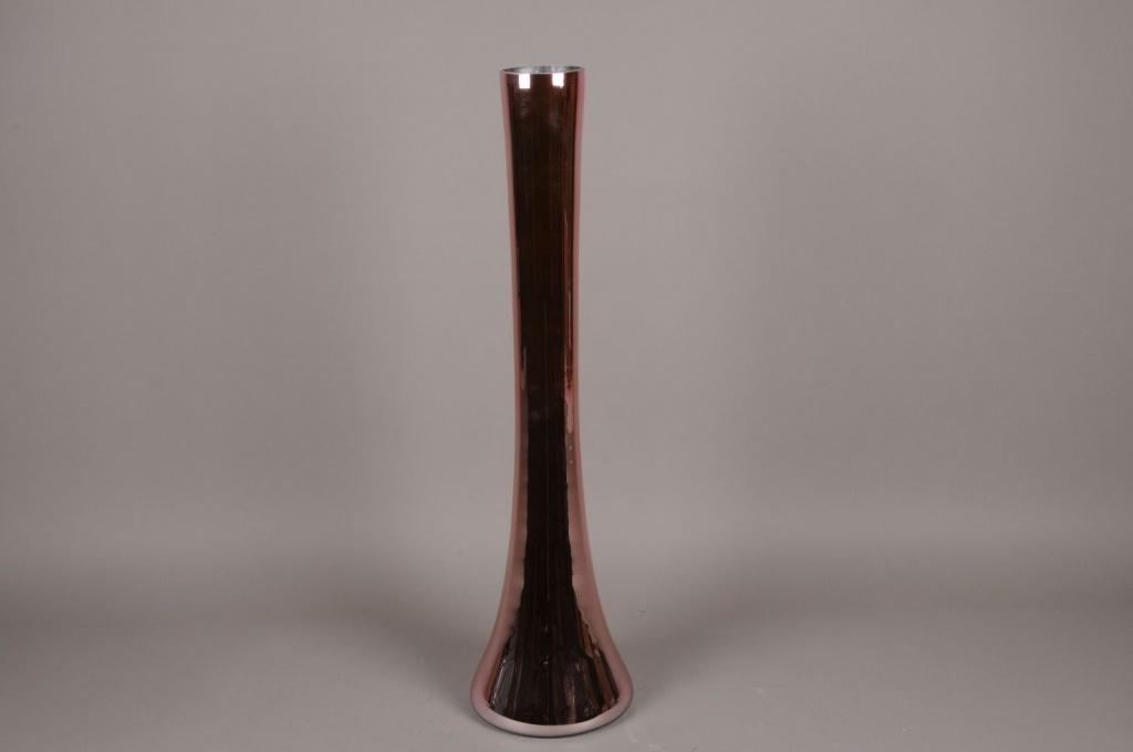 A088K9 Vase glass church pink D20cm H80cm